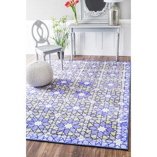 nuLOOM Geometric Fancy Moroccan Tiles Purple Rug (4' x 6')