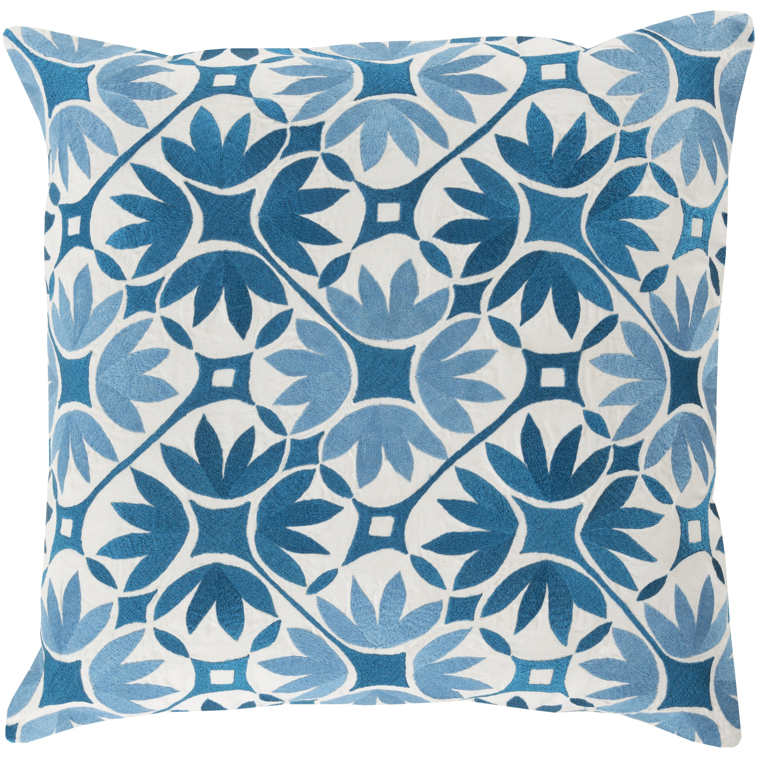Decorative Carole Floral 18-inch Throw Pillow (Polyester)