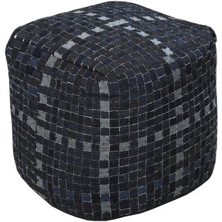 Geometric Ouen Square Cotton 18-inch Pouf