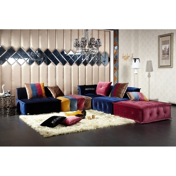 Divani Casa Dubai Transitional Fabric Sectional Sofa