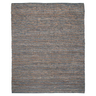 Kosas Home Handwoven Santa Clarita Wool and Jute Grey Rug (8' x 10')