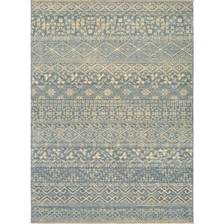 Couristan Elegance Ophelia/Azure-Tan Wool Area Rug - 4'7 x 6'4