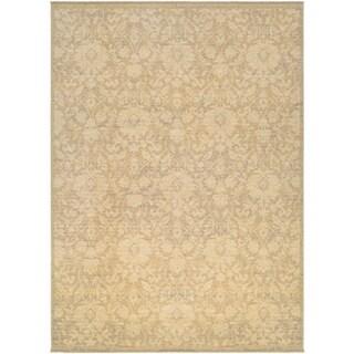 Couristan Elegance Lorelei/Tan-Ivory-Mauve Wool Area Rug - 4'7 x 6'4
