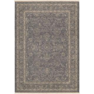 Couristan Elegance Aurelia/Dusty Blue-Beige Wool Area Rug - 4'7 x 6'4