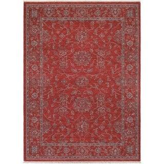 Couristan Elegance Althea/Scarlet-Beige Wool Area Rug - 4'7 x 6'4