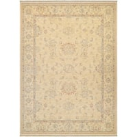 Couristan Elegance Alastair/Tan-Multi Wool Area Rug - 4'7 x 6'4