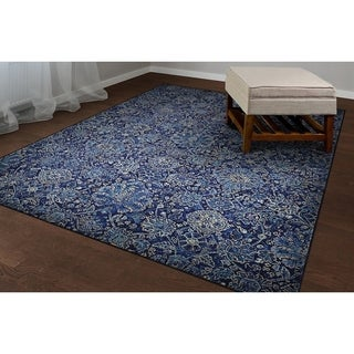 Couristan Easton Winslet Navy/ Sapphire Area Rug (3'11 x 5'3)