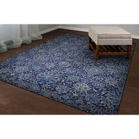 Couristan Easton Winslet Navy-Sapphire Area Rug - 3'11 x 5'3
