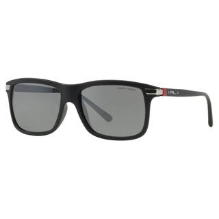 Polo Ralph Lauren Men's PH4084 Plastic Rectangle Sunglasses