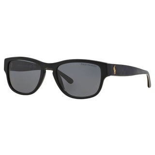 Polo Ralph Lauren Men's PH4086 Plastic Square Polarized Sunglasses