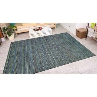 Vector Loft Blue Indoor/Outdoor Area Rug - 3'11 x 5'6