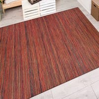 Vector Loft/ Crimson-Multi Indoor/Outdoor Area Rug - 3'11 x 5'6