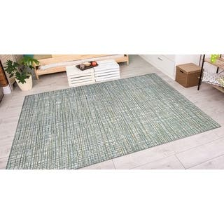 Couristan Cape Falmouth/Ivory-Hunter Indoor/Outdoor Area Rug - 3'11 x 5'6|https://ak1.ostkcdn.com/images/products/10442266/P17536476.jpg?impolicy=medium