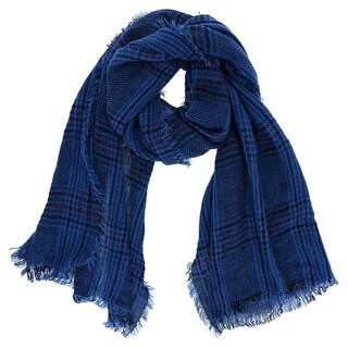 LA77 Warm Plaid Scarf