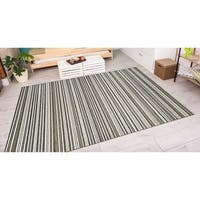 """Vector Mendocino Brown-Ivory Indoor/Outdoor Area Rug - 3'11"""" x 5'6"""""""