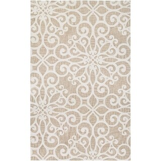 "Couristan Bowery Livonia/Cream-Taupe Wool Area Rug - 3'4"" x 5'4"""