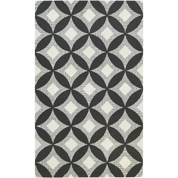 Shop Couristan Bowery Canarsie Charcoal Grey Wool Area Rug