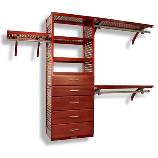 John Louis Home 16-inch Deluxe Red Mahogany 5-drawer Closet Organizer