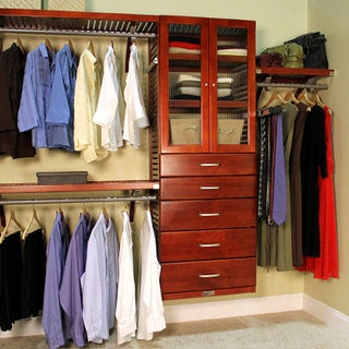 John Louis Home Deluxe 16-inch Red Mahogany Door and 5-drawer Closet Organizer