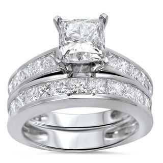 Noori 14k White Gold 2 3/5 ct TDW Princess Clarity Enhanced Diamond Bridal Set|https://ak1.ostkcdn.com/images/products/10442363/P17536287.jpg?_ostk_perf_=percv&impolicy=medium