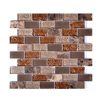 Mesh-Mounted Frosted Glass Mosaic Wall Tile (Pack of 6)
