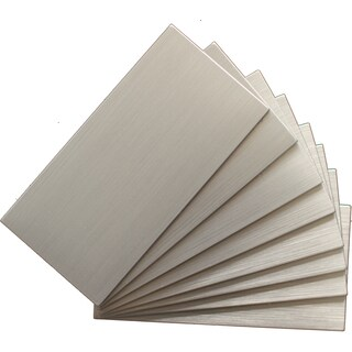 Instant Mosaic Silver Peel and Stick Natural Metal Tile