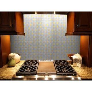 Instant Mosaic 12-inch x 12-inch Squares Peel and Stick Natural Metal Tile (6 sq.ft.)