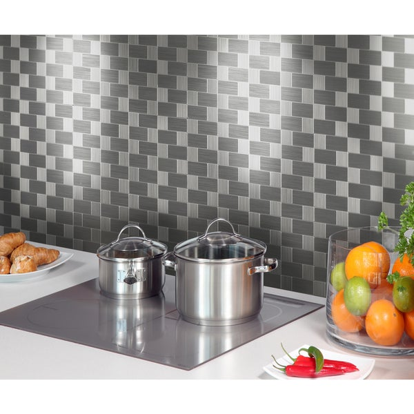 """Instant Mosaic 12"""" x 12"""" Peel-and-Stick Metal Tile (6 sq.ft.)"""