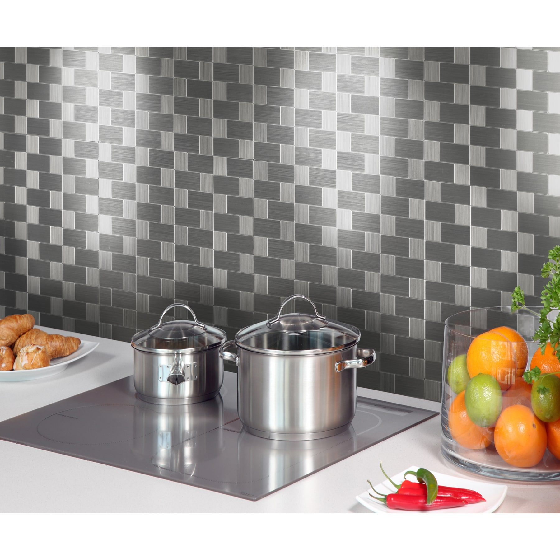 """Instant Mosaic 12"""" x 12"""" Peel-and-Stick Metal Tile (6 sq...."""