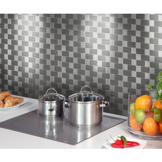 Instant Mosaic 12-inch x 12-inch Peel and Stick Metal Tile (6 sq.ft.)