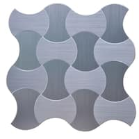 Instant Mosaic 12-inch x 12-inch Peel and Stick Natural Metal Tile (6 sq.ft.)