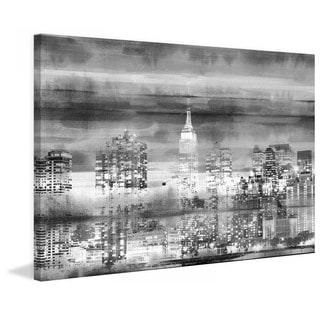 "Parvez Taj - ""Big Apple Night"" Print on Canvas"