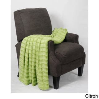BOON Derby Double Sided Faux Fur Throw (Option: Citron)
