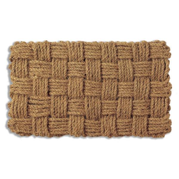 Woven Checks Coir Doormat