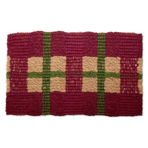 Vintage Plaid Coir Doormat