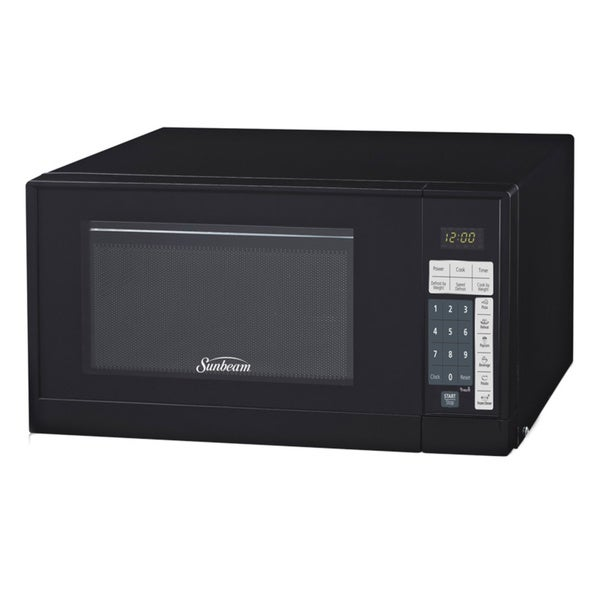 Shop Sunbeam Sgsr902 Black 9cu Microwave Oven Free