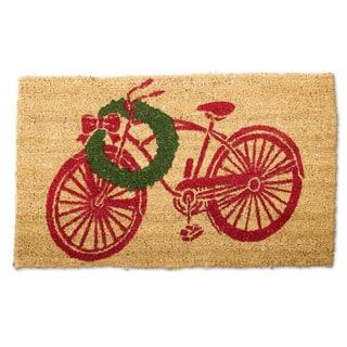 Vintage Christmas Bike Coir Doormat https://ak1.ostkcdn.com/images/products/10442552/P17536430.jpg?impolicy=medium