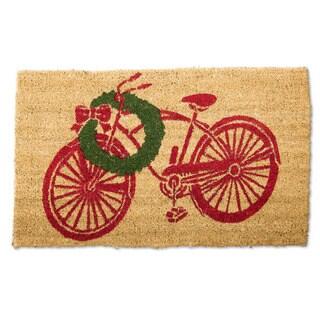 Vintage Christmas Bike Coir Doormat