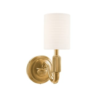 Hudson Valley Tuilerie 1-light Brass Wall Sconce