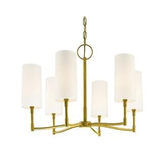 Hudson Valley Dillon 6-light Brass Chandelier