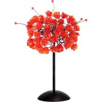 Red Rosettes Table Lamp