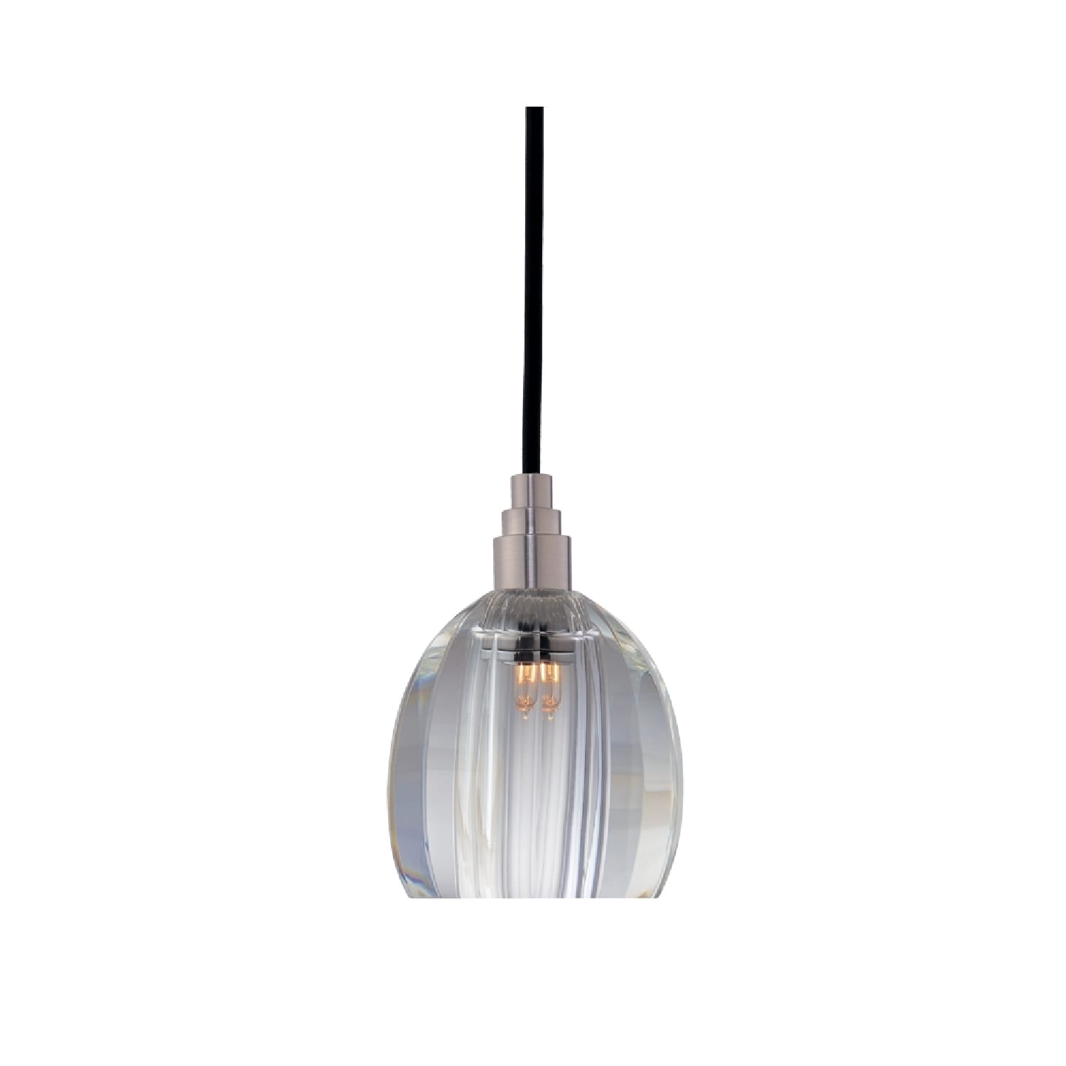 Satin Nickel Finish with Clear Glass Shade Hudson Valley Lighting Naples 1-Light Pendant