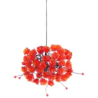 Red Rosettes Pendant Hanging Light
