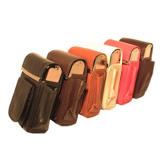 Genuine Leather Auto-rise Cigarette Case Pouch