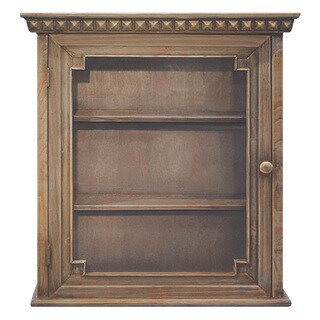 Architectural Wall Cabinet, Natural Wood