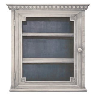 Architectural Wall Cabinet, White with Indigo interior