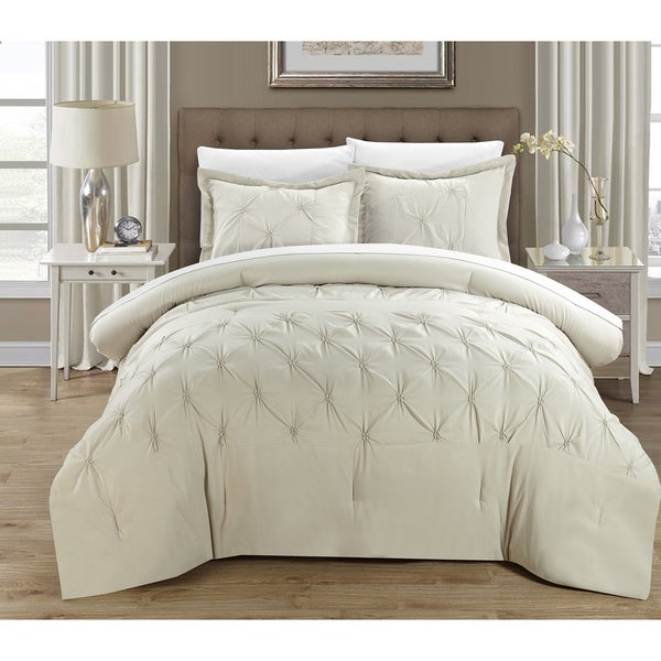Porch & Den Denver 3-piece Pinch Pleat Pintuck Duvet Cover Set