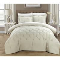 Clay Alder Home Denver 3-piece Pinch Pleat Pintuck Duvet Cover Set