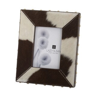 Dimond Home Leather Holstein Faux Pony Picture Frame