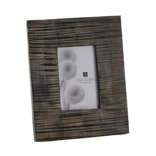 Dimond Home Stone Resin Striped Horn Picture Frame